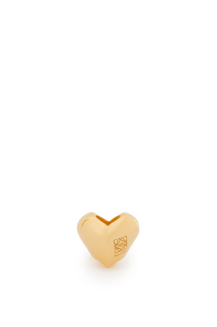 LOEWE Small heart dice in metal Gold pdp_rd