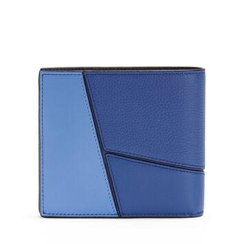LOEWE Billetero Puzzle Azul Pacifico/Azul Seaside front