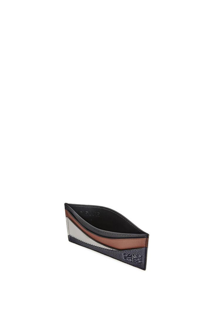 LOEWE Tarjetero plano en piel de ternera clasica Azul Medianoche/Brunette pdp_rd