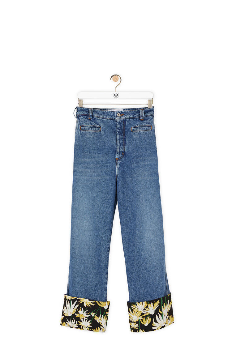 LOEWE Fisherman jeans turn up in daisy cotton Blue pdp_rd