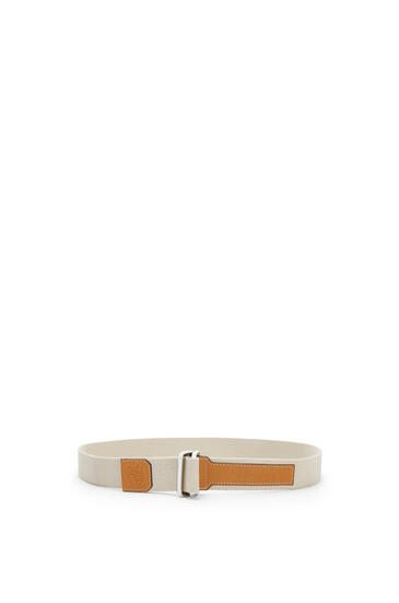 LOEWE Belt in canvas and calfskin Light Oat pdp_rd