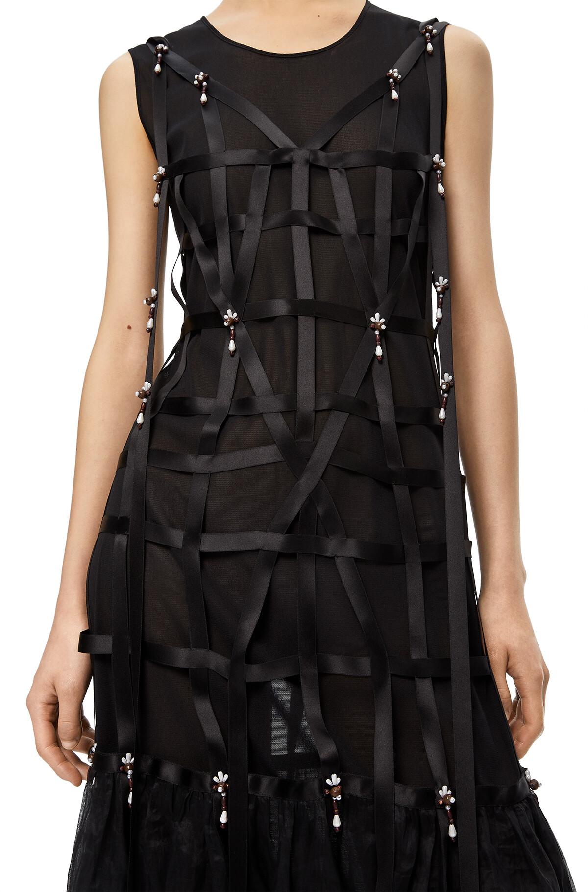 LOEWE Dress Pearls Black front