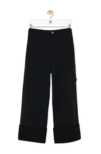 LOEWE Turn Up Patch Pocket Trousers 海軍藍 front