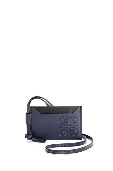 LOEWE 牛皮革对比色卡包 Midnight Blue pdp_rd