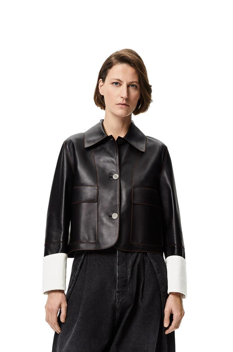 LOEWE Button jacket in nappa Black pdp_rd