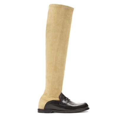 LOEWE Sock Bota Alta Negro/Oro front