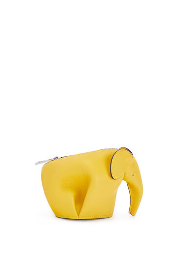 LOEWE Elephant charm in smooth calfskin Yellow pdp_rd