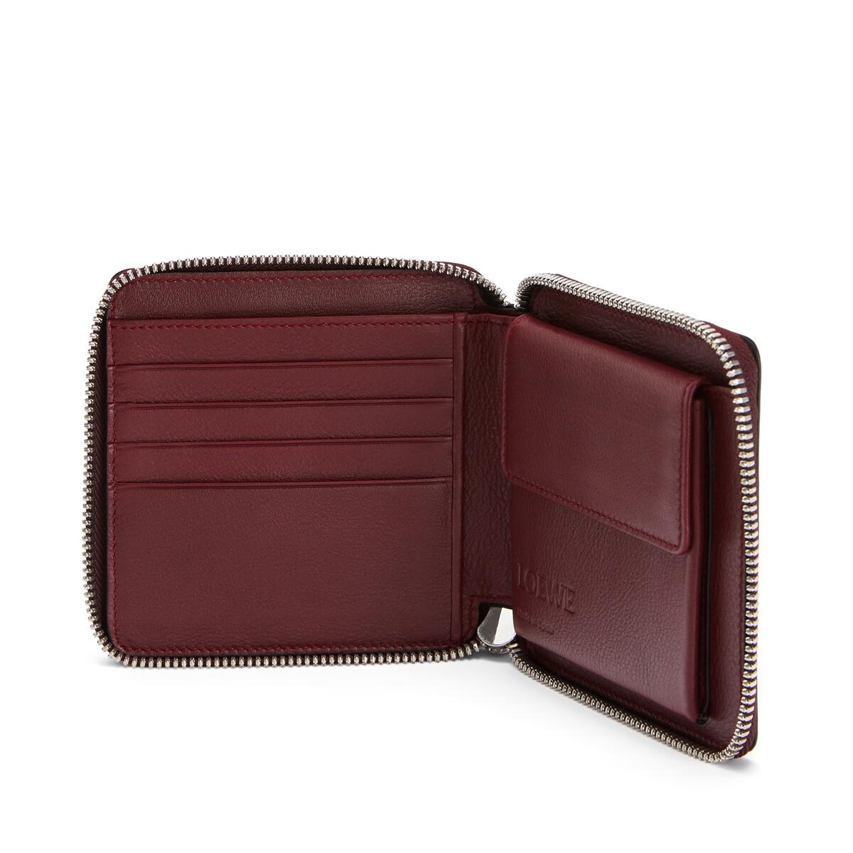 LOEWE Puzzle Square Zip Wallet Wine/Garnet front