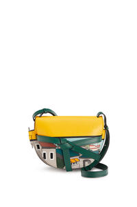 LOEWE Small L.A. Series Gate bag in soft calfskin Yellow/Multicolour pdp_rd