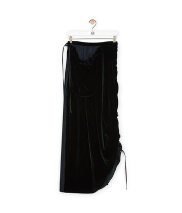 LOEWE Velvet Pocket Skirt 黑色 front