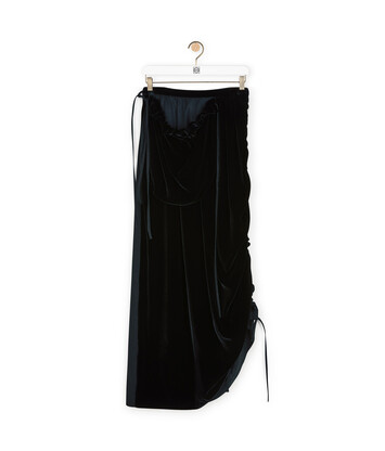 LOEWE Side Pocket Skirt Negro front