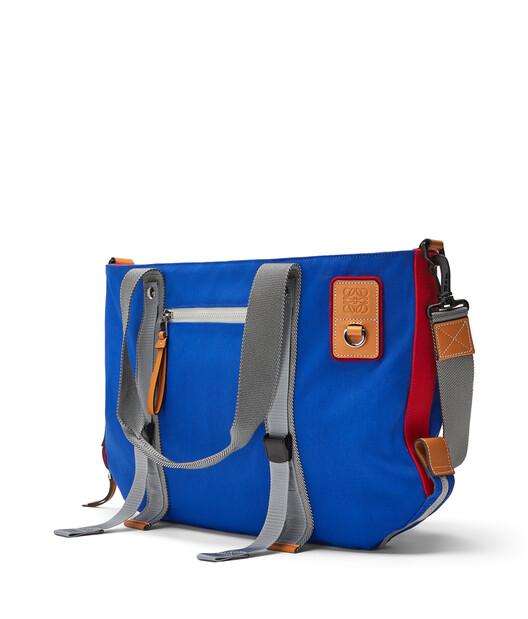 LOEWE Eye/Loewe/Nature Tote Bag Blue/Red front