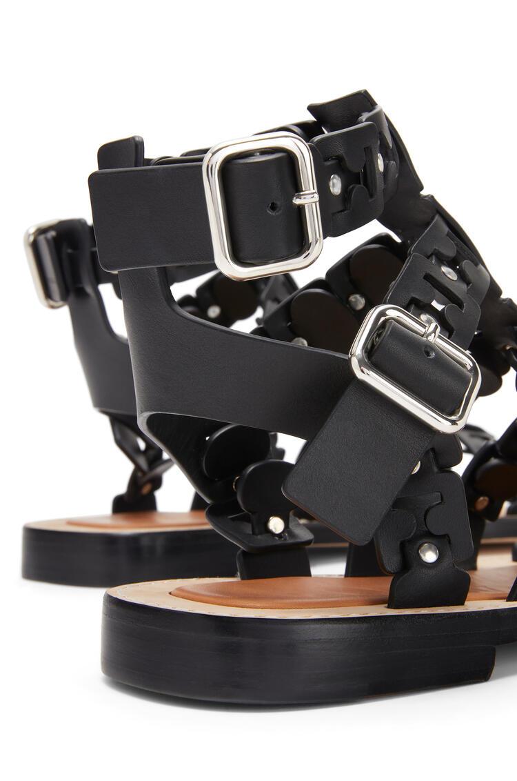 LOEWE Spartiate Sandal In Calfskin Black pdp_rd