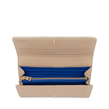 LOEWE Continental 翻盖钱夹 Sand/Electric Blue front