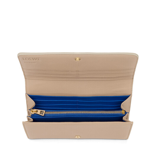 LOEWE Continental Wallet Sand/Electric Blue front