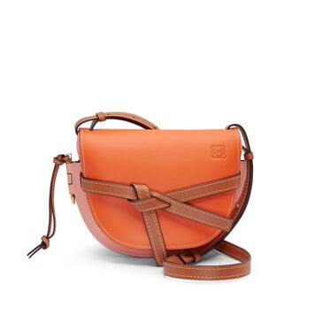 LOEWE Gate Small Bag Orange/Blossom front