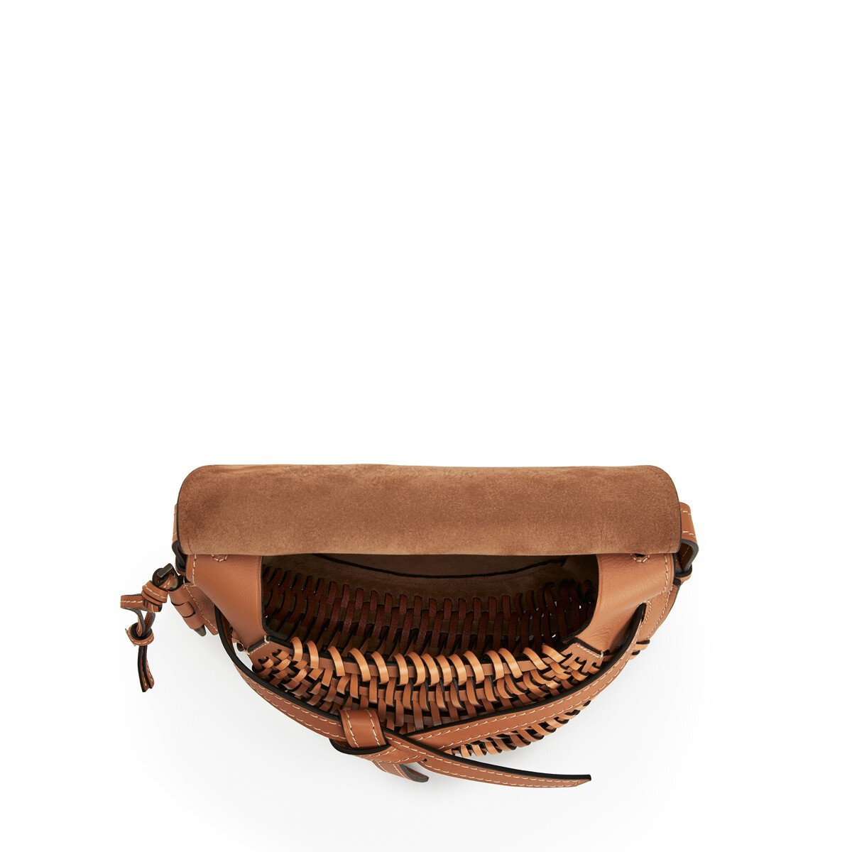 LOEWE Gate Woven Small Bag 棕褐 front