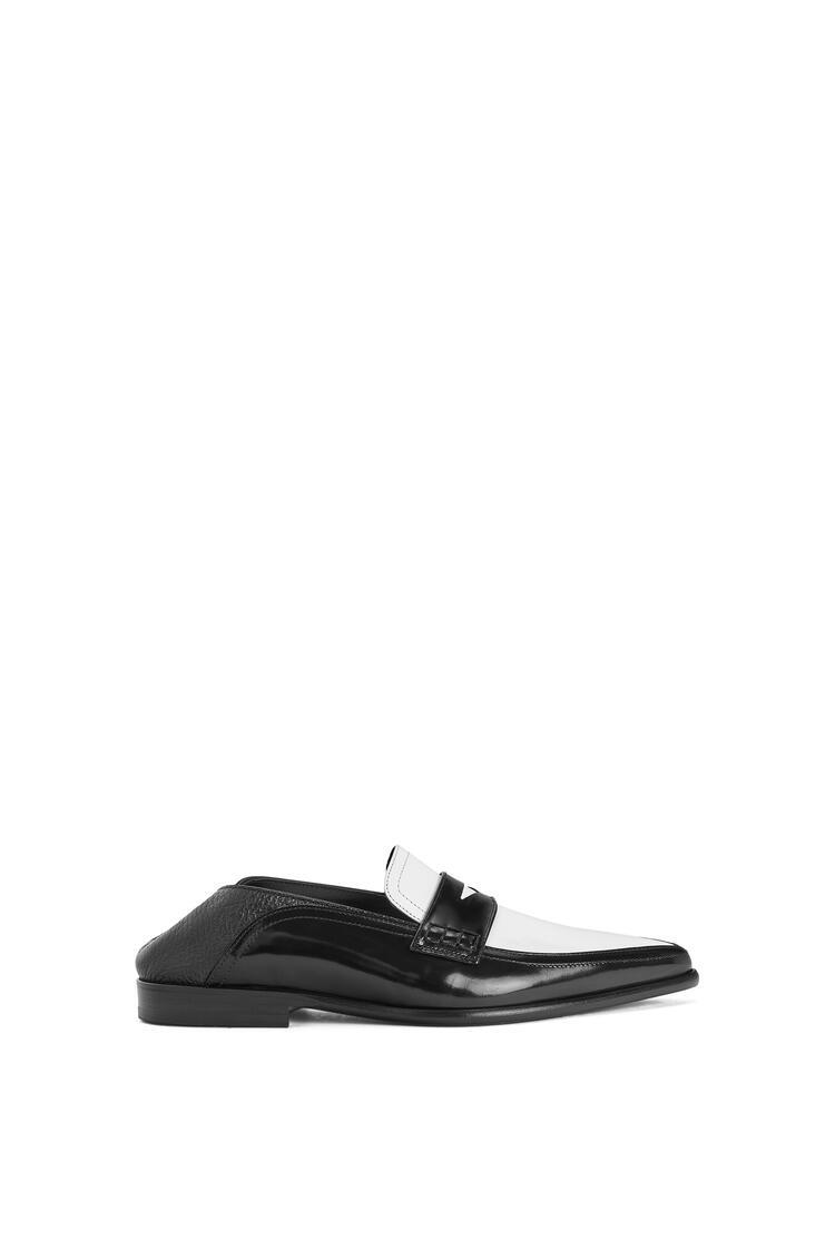 LOEWE Pointy Slip On Loafer In Calfskin Black/White pdp_rd