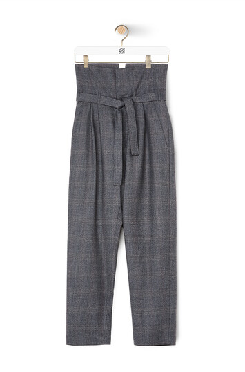 LOEWE Belted Pleated Ov Trousers Gris front