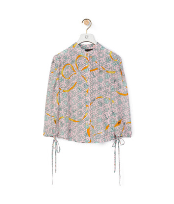 LOEWE Oversize Blouse In Shield Silk Pink front