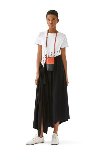 LOEWE Woven Satin & Jersey Dress Ecru front