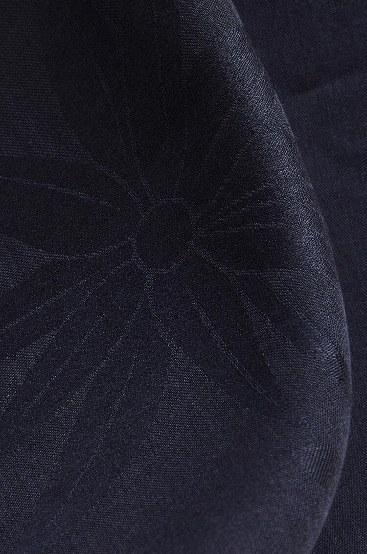LOEWE Giant Anagram scarf in wool and silk Dark Navy pdp_rd