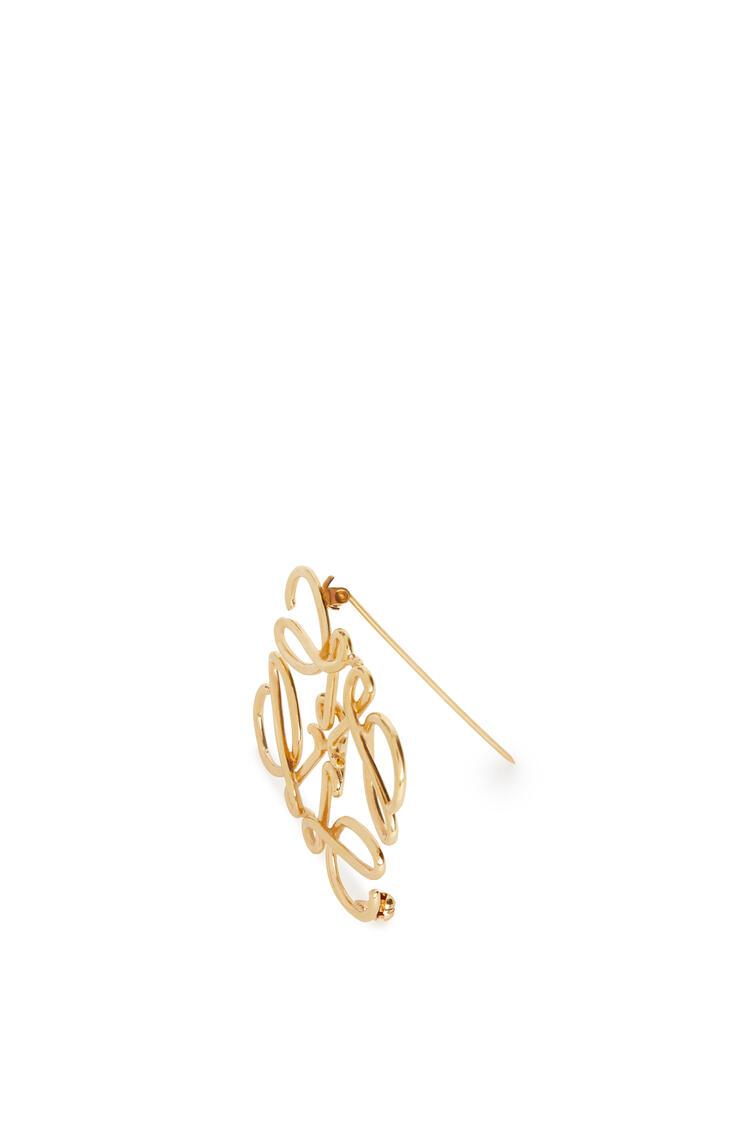 LOEWE Anagram brooch in metal Gold pdp_rd