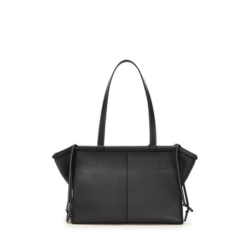 LOEWE Cushion Tote Small Black front
