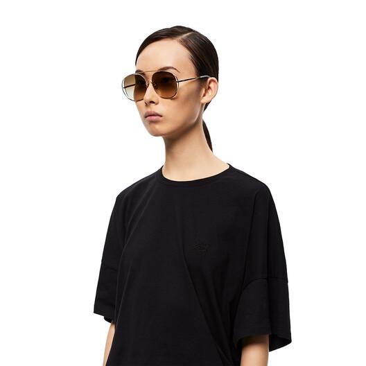 LOEWE Metal Round Sunglasses 沙色 front