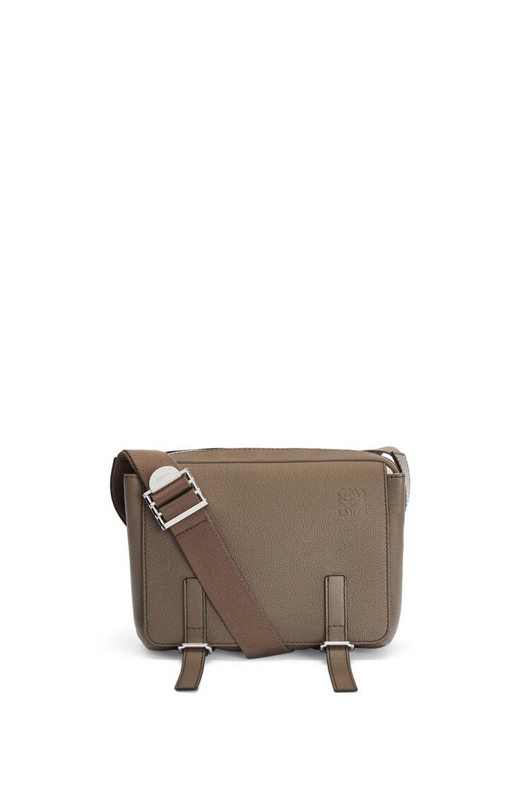 LOEWE XS Military messenger bag in soft grained calfskin Dark Moss pdp_rd