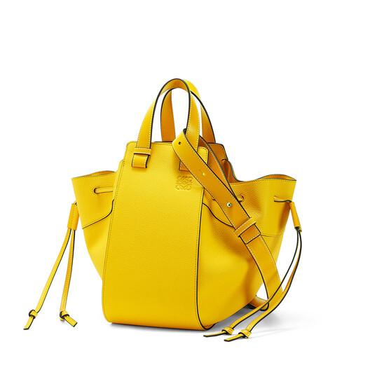 LOEWE Hammock Drawstring Small Bag Yellow front