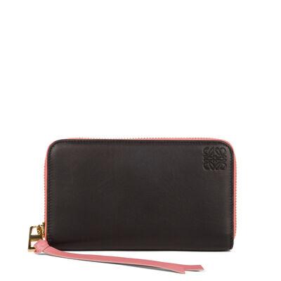 LOEWE Medium Zip Around Wallet Black/Candy front
