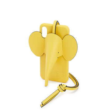 LOEWE Elephant Cover For Iphone X/Xs Yellow front