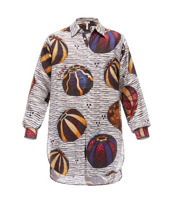LOEWE Long Ov Shirt Urchins Multicolor front