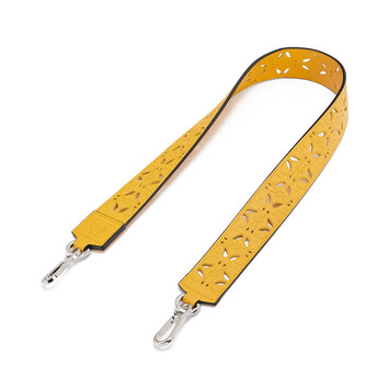 LOEWE Perforated Strap Yellow Mango front