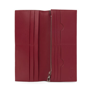LOEWE Long Horizontal Wallet Chocolate/Burgundy front