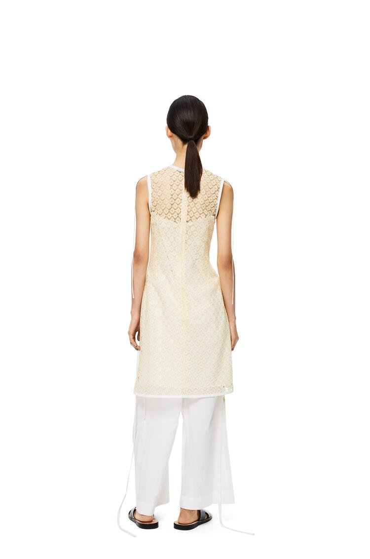 LOEWE Sleeveless lace top in polyester Yellow pdp_rd
