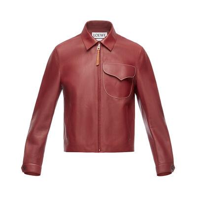LOEWE Flap Pocket Zip Jacket Burdeos front