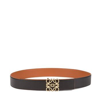 LOEWE Anagram Belt 3.2Cm Tan/Black/Gold front