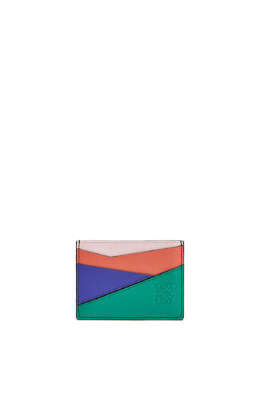 LOEWE Puzzle plain cardholder in classic calfskin Emerald Green pdp_rd