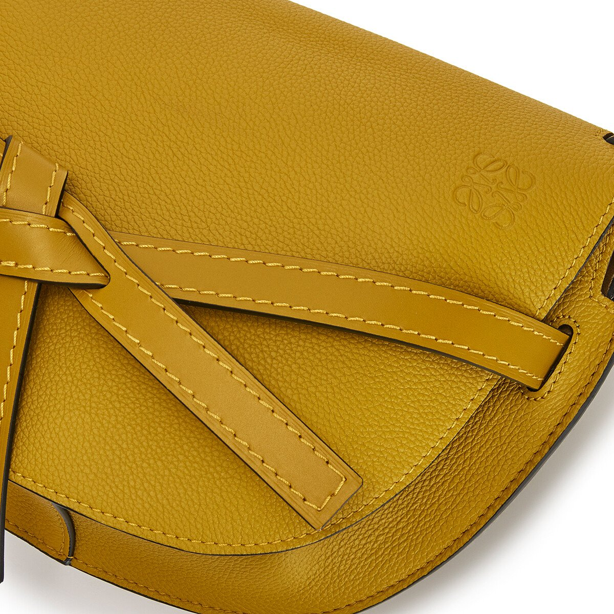 LOEWE Gate Small Bag Ochre front
