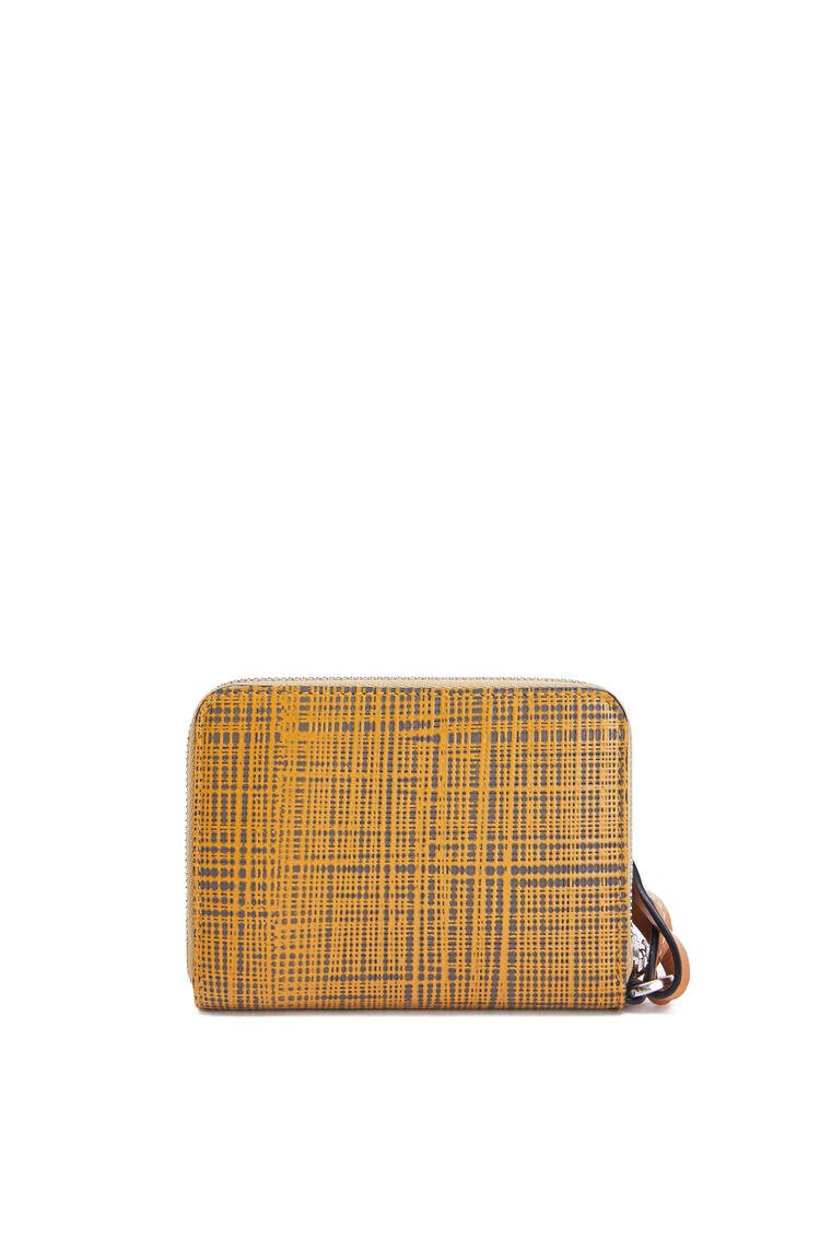 LOEWE 6 cards wallet in textured calfskin Ochre/Taupe pdp_rd
