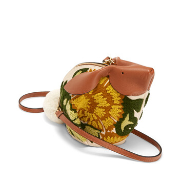 LOEWE Bolso Conejo Floral Amarillo front