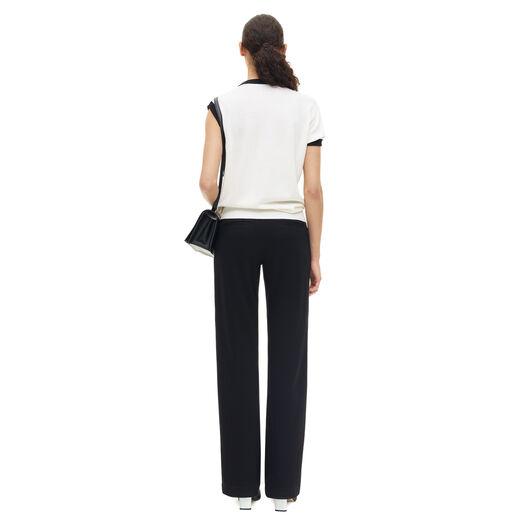 LOEWE Dot Short Sleeve Sweater Negro/Blanco all