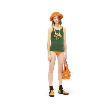 LOEWE Paula Print Swim Brief Naranja front