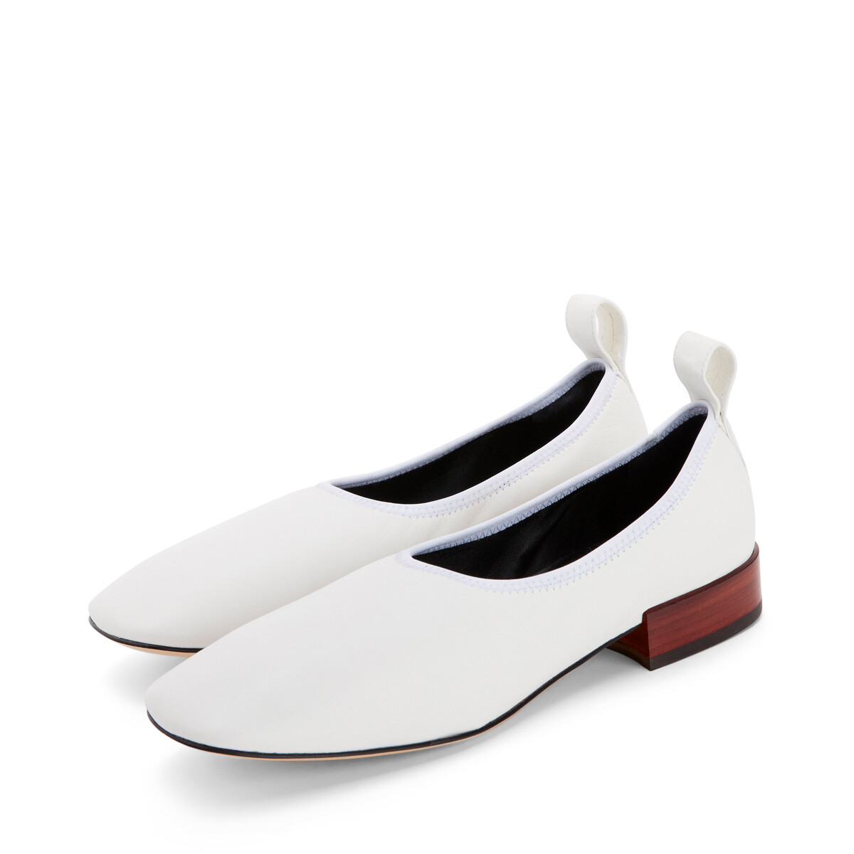 LOEWE 软芭蕾舞鞋 25 绵白色 front
