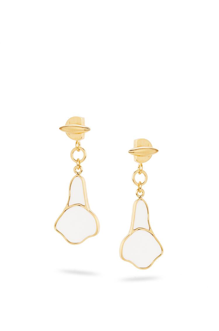 LOEWE Calla earrings in semi precious stones White pdp_rd