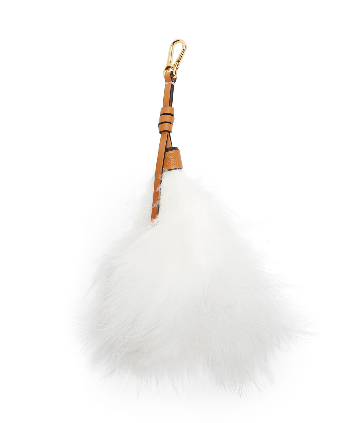 LOEWE Feather Charm White all