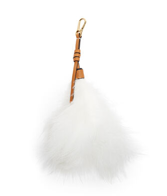 LOEWE Feather Charm 白色 front