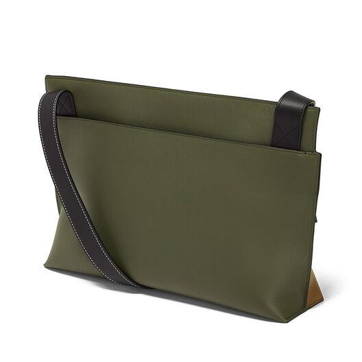 LOEWE T Messenger Bag Dark Taupe/Military Green/Bl front